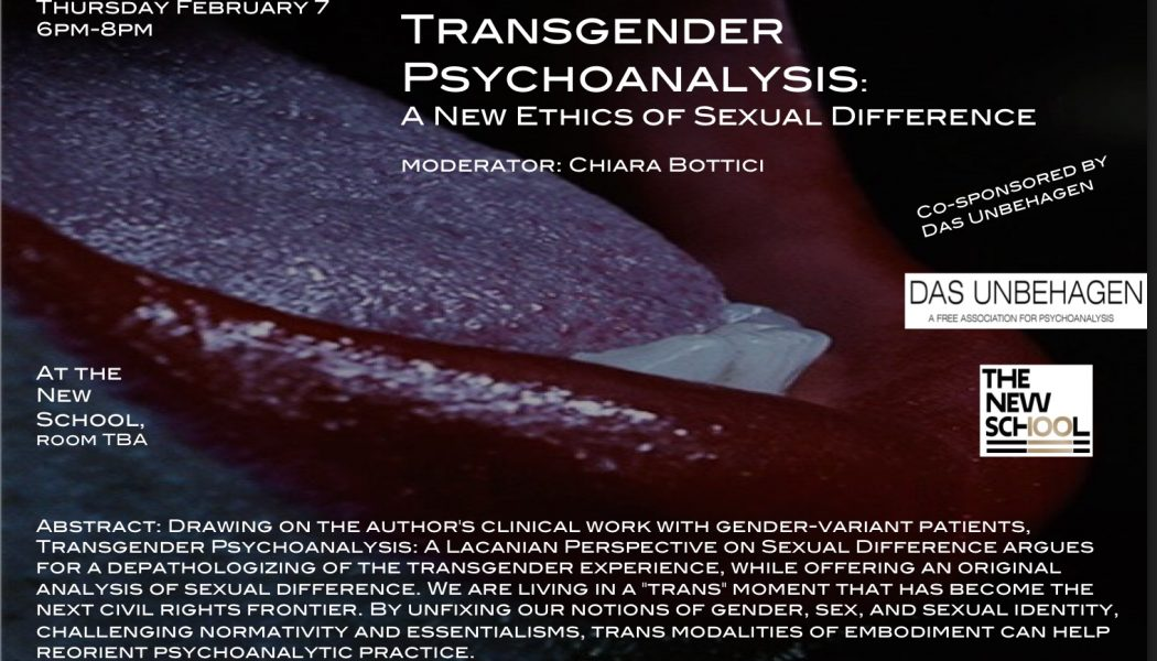 Transgender Psychoanalysis: A New Ethics of Sexual Difference – Patricia Gherovici & Oren Gozlan